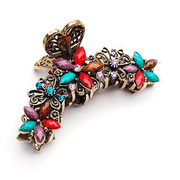 Post the smile of genuine antique flowers make a claw clip Korean version-jaw Chuck to catch series women