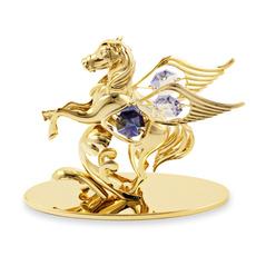卡斯杜克水晶飞马摆件马到成功家居汽车内饰品开业商务礼物工艺品