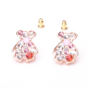 Ya na genuine bear fashion Korean style earrings high-grade diamond earring popular Korean cute Korea mm37
