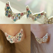D212 a good Stud Korea Korean rhinestones jewelry ladies butterfly earrings earrings Stud