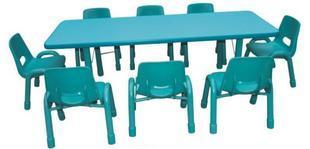 幼儿园长方桌多人课桌8人桌防火板桌子学习桌培训桌子