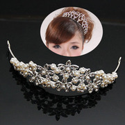 Package mail smiling bride jewelry fashion Pearl Crown, Japan and South Korea wind bride jewelry fashion