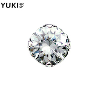 YUKI network jewelry men''s white fungus nails 925 Silver single poverty-stricken Caribbean diamond hipster cool Thai yinnan ornaments