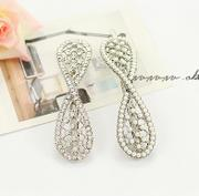 Good Korean hair jewelry jewelry Korea ladies rhinestone bow hair clip bangs clip