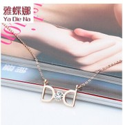 Mail ya na rhinestones jewelry new Japan-Korea Joker clavicle d necklace chain