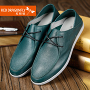 Red dragonflies daily casual spring/summer new genuine leather men's shoes Department of Korean fashion leather shoes
