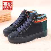 Becky 2015 new mixed colors for fall/winter boots female Korean wave thick-soled platform shoes high flat boots