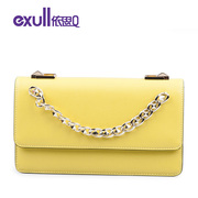 Exull new q2015 spring fashion solid color decorative chain portable single shoulder slung bags for 15322058