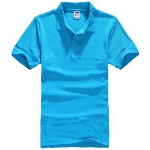 纯色男士短袖高品质纯棉男女装团体衫定制工作服班服活动广告衫
