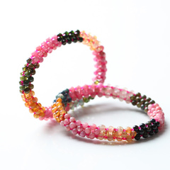 Treasure master tourmaline Bracelet Crystal week female hand-woven bracelets wide version 0 profit manual chain opening seconds