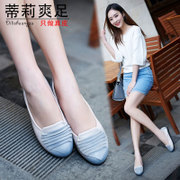 Tillie spring 2015 new cool foot hand leather flat women's shoes casual Retro Mama comfort