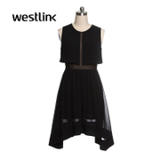 West Westlink/sleeveless solid color dress women's clothing