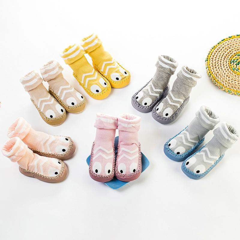 春秋宝宝学步袜0-6-12月婴儿袜子儿童地板袜早教袜套松口防滑鞋袜