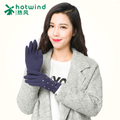 Hot ladies knitted gloves fashion stars girl Korean version of thick warm gloves 88H085701