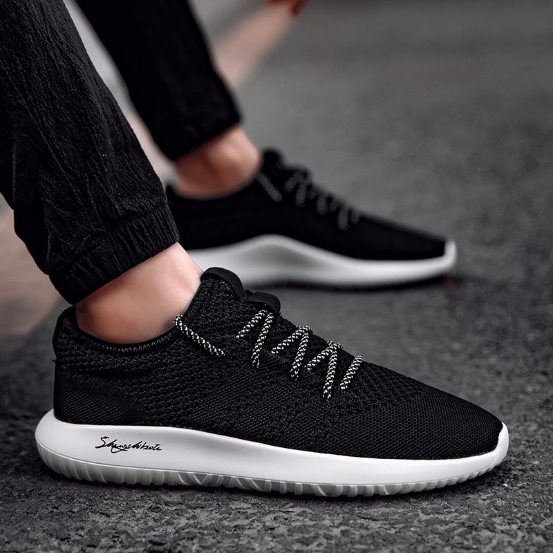 2017秋季男鞋子冬季休闲运动鞋韩版潮流黑色板鞋男百搭学生跑步鞋