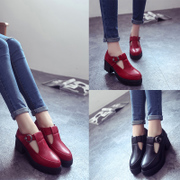 England shoes woman heel spring and autumn rough with students with non-slip shoes leisure shoes 2015 shoes wave comfort