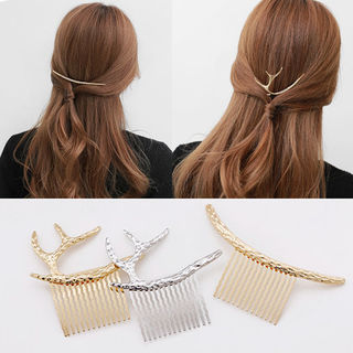 Cool na Europe and Hairpin clip hair elk antler retro Moon radian plug the comb comb comb 6194