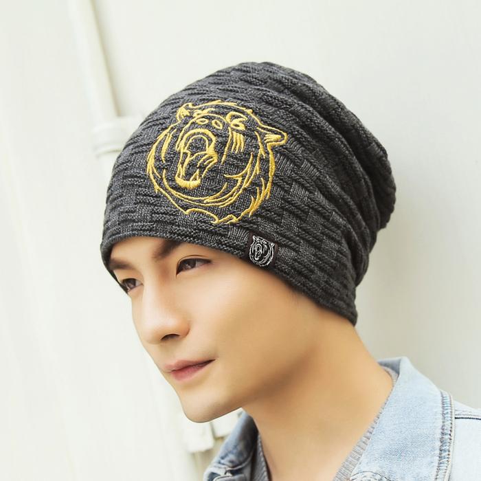 帽子男鼕季韓版保暖百搭潮人青年鼕天男士棉毛線針織保暖包頭護耳