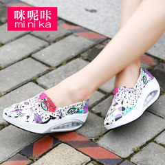 MI Ka fall 2015 the Korean version of boom shake shoes women's casual canvas platform set foot lazy shoes women's shoes