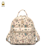 North spring new Korean wave casual bag 2016 cute cartoon female bear Backpack Backpack bag wave small