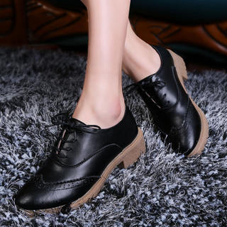 Microphone clicking 2015 fall New England air retro shoes deep system with flat-bottom shoes casual Oxford Shoes Women