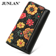 LAN-June 2016 new style leather ladies wallet large zip around wallet