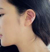 Spread leaves cool na Korean temperament female ear clip earrings non-pierced ear clip earrings 2011