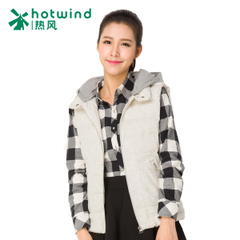 Female short hot ladies winter new style leisure vest hooded vest Korean warm jacket 10H5901