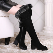 Thick with over the knee boots boots women new waterproof winter boots high boots high heel Lady boots winter boots women