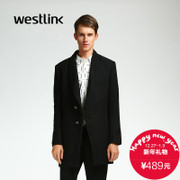 Westlink/West in 2015 long woolen cloth coats in winter New England business casual men's jacket black