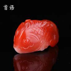 首语南红玛瑙吊坠保山南红原石满色满肉苏工南红雕件挂件水晶饰品