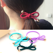 Knowing Minnie flower hair accessories hair rubber band ligation of Korean rope bow hair band hair accessories