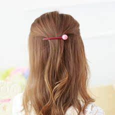 典尚发夹饰品 韩版甜美糖果色长款发发子青蛙扣顶夹边夹头饰