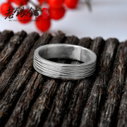 Old silver Pu Wu S990 designer silver ring woman opening the original pure silver couple rings man ring silver