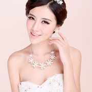 Good jewelry bridal Necklace Earring Set Korean sweet beauty necklace wedding wedding accessories wedding jewelry