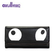 Exull q2015 new autumn cute cartoon black and white eye wallet clutch bag handbag bag 15335213