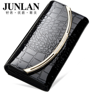 Junlan Chun LAN genuine new ladies wallet large zip around wallet leather women's wallet leather hand bag Korean version of wallet