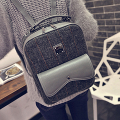 About female beauty for 2015 new Korean wave fashion shoulder bag for fall/winter woolen cloth shoulder bag student bags travel bags