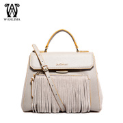 New handbag trends in Europe and America in the Wanlima/million 2015 spring tassels genuine slung fashion handbag