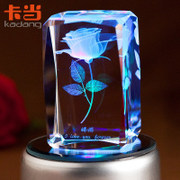 Music box, the music box 3D laser crystal luminous romantic carousel creative girlfriends girls birthday gifts