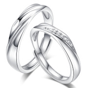 Full of ornaments you couple ring 925 silver plated Platinum Rings Korean jewelry for men and women open Valentine''s day gifts