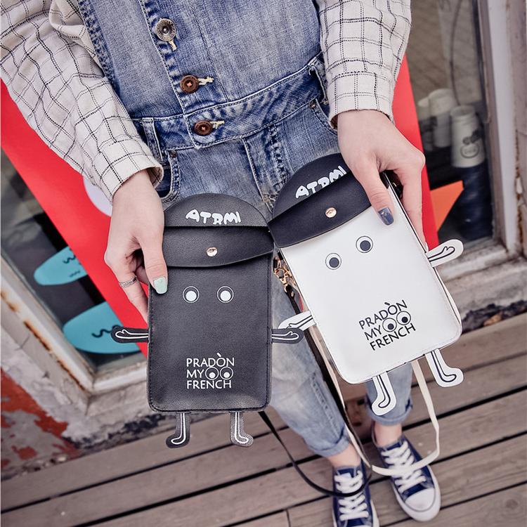 包包2016春季新款小包日韩个性搞怪手机包小挂包钱包单肩包斜挎包