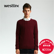 Westlink/West 2015 winter wool knitted sweater new men's slim solid color pullover