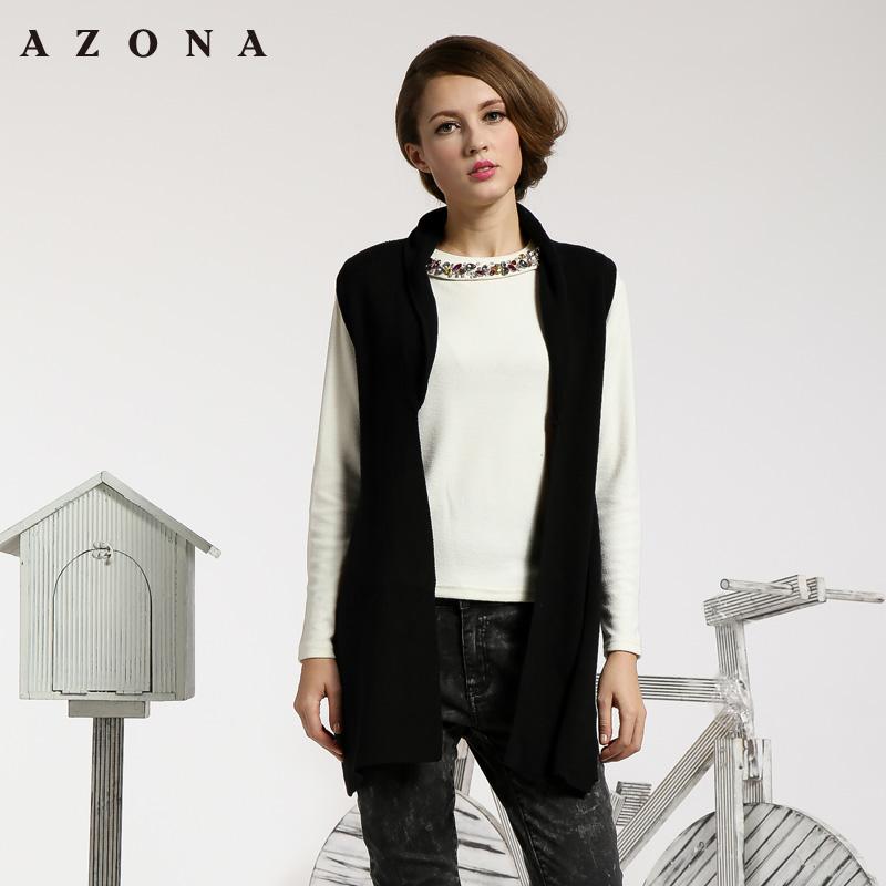 时尚简约风不对称设计毛织开衫 A1N1A0471SC