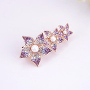 Good jewelry package delivery clip top clip spring clip ponytail hairpin rhinestone hair accessories hair flowers