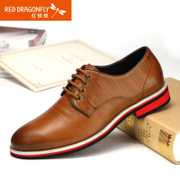 Red Dragonfly leather men's shoes, spring 2015 new authentic classic dress shoes business tie the men of England