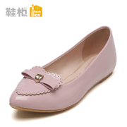 Shoebox shoe 2015 new simple casual women's shoes fall flat, shallow mouth leather pointed shoes