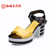Spider King new fashionable leisure Rome wind mixed colors of the Candy-colored crude with women Sandals Women's shoes