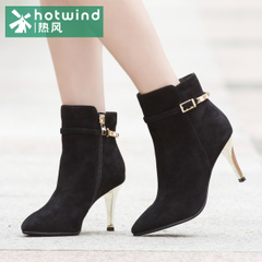 Hot spring and autumn the new stiletto high heel ankle boots pointed toes and ankle boot suede short tube women boots H87W5408