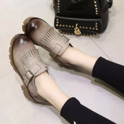 Chao 2016 in New England with the coarse with thick-soled platform shoes tassel loafers student shoes children shoes